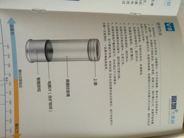 【闪电发货】富氢杯富氢水杯 充电便携式高浓度负氢养生水素水杯高速电解富氢水机 V8升级银色款 晒单图