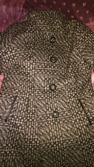 好伊坞 毛呢大衣女中长款加棉2018秋冬新款韩版加厚毛呢外套802 图片色 XL 晒单图