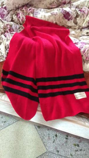 士丹熊女士围巾女冬季学生韩版百搭可爱纯色仿羊绒围脖女秋冬加厚长款披肩 大红色 晒单图