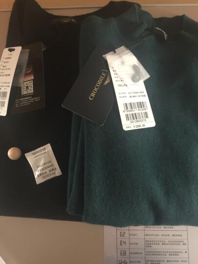 鳄鱼恤羊绒衫女士半高领净色套头经典修身打底毛衣针织衫 红棕 95#(160/M) 晒单图
