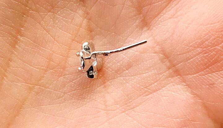 韩版四叶草耳钉气质女款银耳环可爱耳饰品闺蜜简约耳饰时尚花朵耳钉 星星月亮 晒单图