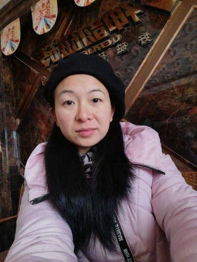 艾依美 毛呢冬季帽子女款秋冬贝雷帽 冬天款韩版潮时尚画家帽韩国女帽 酒红色 均码 晒单图