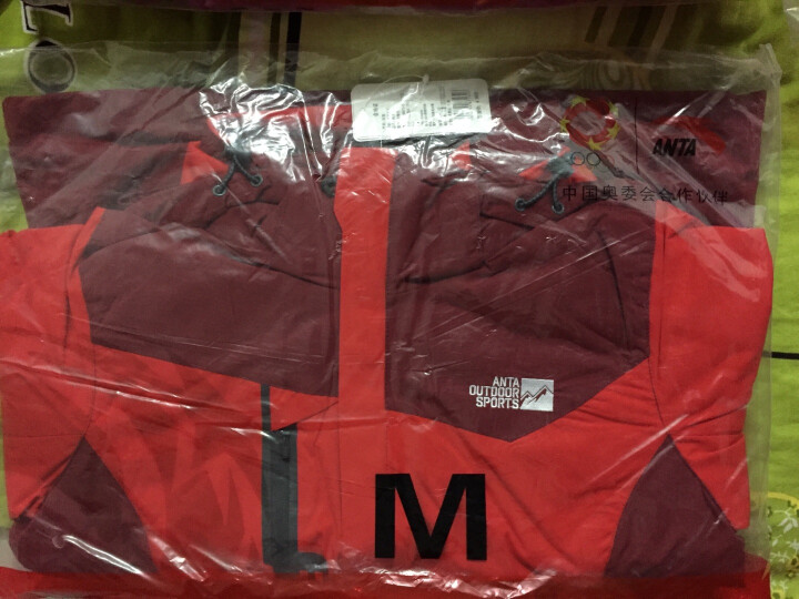 【清仓】安踏女装 秋冬户外系列可拆卸两件套 抓绒衣 防风保暖 96546670 热力红-2 M/165 晒单图