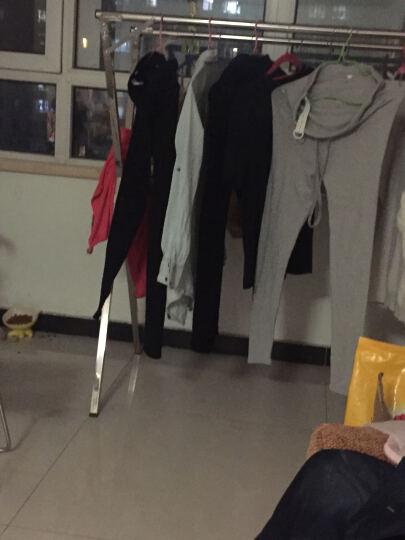 晾派 落地不锈钢晾衣架折叠伸缩晒衣架 阳台挂衣架晾衣杆凉晒被挂衣架 奢华三杆1.6米可伸缩 晒单图