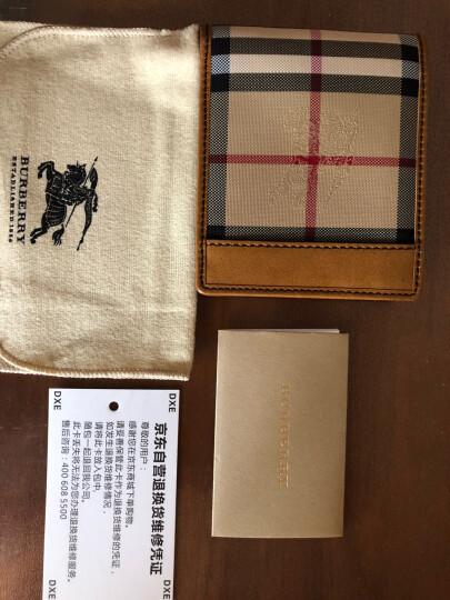 BURBERRY 巴宝莉 男款HORSEFERRY CHECK棕褐色牛皮织物格纹证件卡钱夹 39356431 晒单图