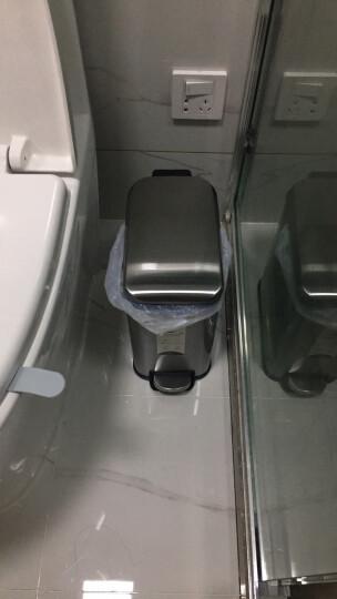 麦桶桶(Mr.Bin) 长方形垃圾桶家用卫生间窄创意静音时尚不锈钢脚踏欧式厨房客厅 cs plus5L 拉光银 晒单图