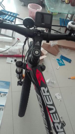 永久30变速山地车自行车男女式单车/27.5寸锁死避震前叉建大轮胎越野车 R100 黑红色 晒单图