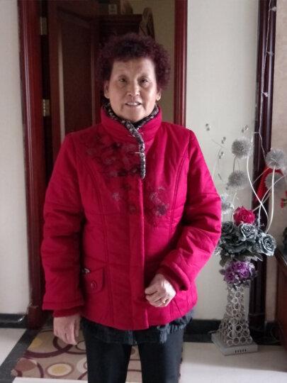 宝利鹿胖妈妈装秋装短款棉衣外套装新款中老年女装秋冬装羽绒棉服女老年人修身型奶奶装加大码棉袄 绿色 2XL建议(110-120斤) 晒单图
