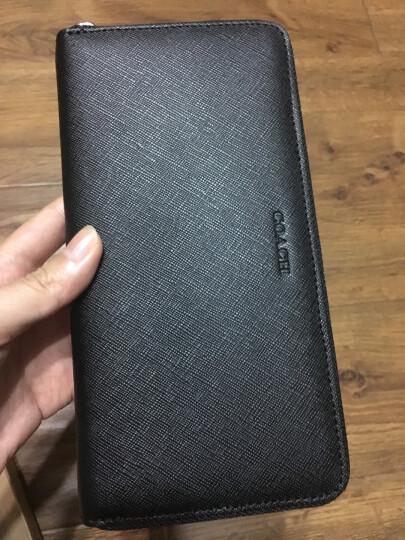 Coach 寇驰 F74769 男士黑色牛皮拉链长款钱包 黑色 晒单图