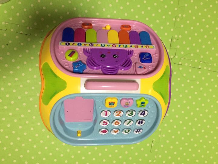 宝丽七面体益智屋儿童玩具多功能多面体游戏桌智慧屋婴儿宝宝玩具0-1岁2-3周岁小孩学习桌 宝丽7面体益智玩具-橙色(智立盒婴幼儿玩具) 晒单图