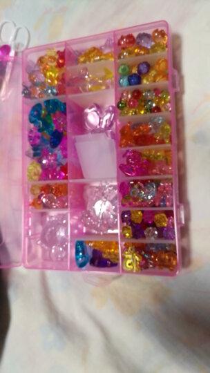 水晶宝石玩具 儿童珠宝盒女孩礼物 钻石项链手工串珠材料 高跟鞋宝石组合装约198颗 晒单图