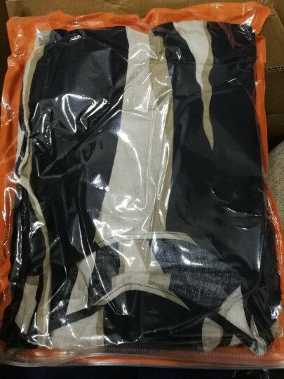 FEBNAIRO雪纺连衣裙女2017年春夏新款棉绣花两件套中长裙 HY1752蓝白条纹 2XL 晒单图