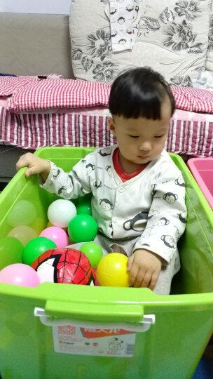 【沃尔玛】禧天龙 时尚整理箱大号塑料收纳箱 玩具衣物储物箱 50L 红色粉色随机发货 晒单图