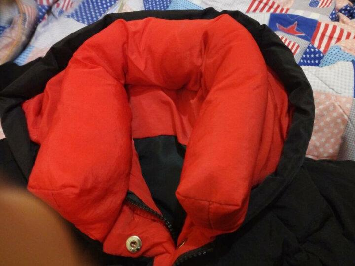 朵绒菲羽绒服女中长款2019冬装新款韩版修身显瘦连帽羽绒衣加厚保暖外套上衣潮 咖啡色 XL(120-130斤) 晒单图
