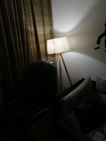 赫曼北欧三脚架实木客厅落地灯欧式卧室麻布艺后现代新中式立式美式书房装饰灯饰LF1003 晒单图