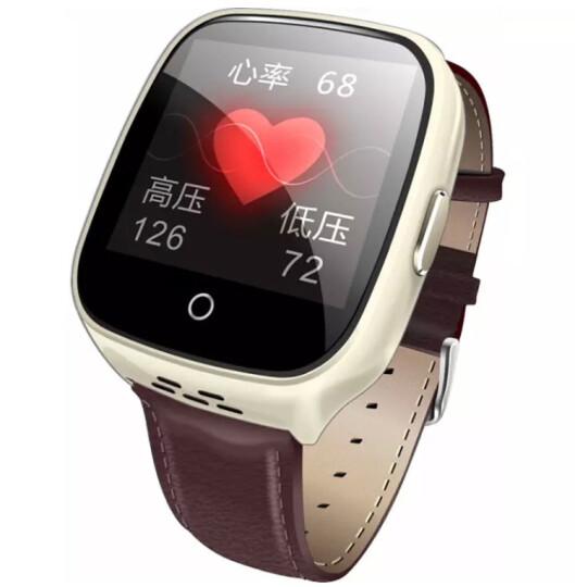 keke 【心率+血压检测】老人智能手表男女心率血压电话腕表儿童智能防丢器手机GPS定位手环 触屏版-香槟金(双向通话+心率血压监测+多重定位) 晒单图