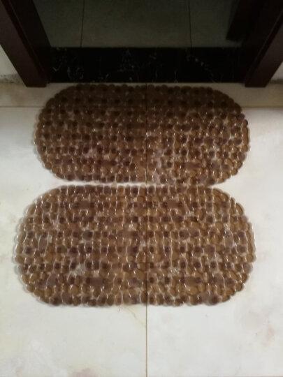素雅特 鹅卵石浴室浴缸防滑地垫淋浴脚垫36*69cm 咖色 晒单图