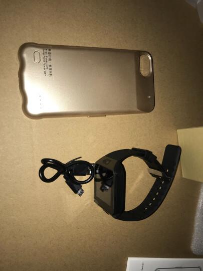 数码女生 薄充电宝手机壳无线iphone背夹电池移动电源苹果专用6s/7/X/8plus 4.7小屏6/6s/7/8 土豪金  5200毫安 晒单图