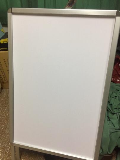 铝合金海报架单面/双面广告牌房源展板展架展示指示牌双面手提开启式铝合金海报架A型广告牌折叠展架POP 60*90双面铝合金架【不含背板】 晒单图