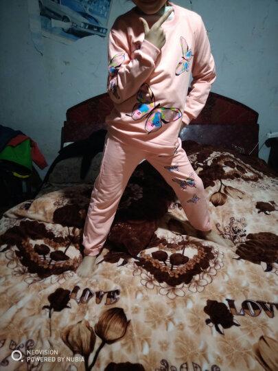 道琪安女童套装2018春夏装短袖童装女新款儿童套装卫衣卫裤大童两件套小女孩春季小学生衣服 短袖粉色 140码 建议身高130厘米左右 晒单图