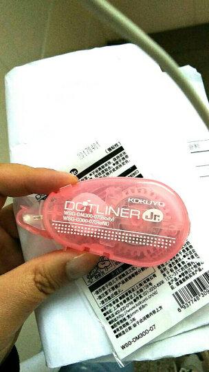 日本国誉KOKUYO|迷你点状双面胶带 黏胶贴 粘性胶 点点胶DM-300学生文具可换芯 新款粉红色 晒单图