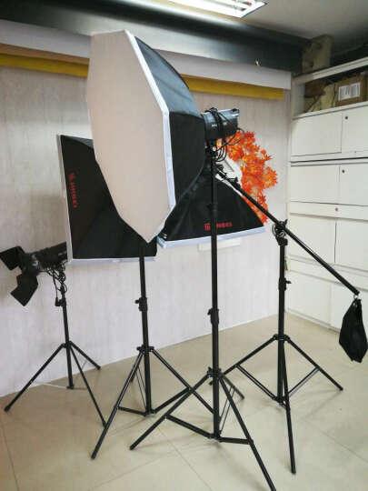 金贝SPARKII400W摄影灯摄影棚套装影室闪光灯引闪器造型灯泡摄影器材 三灯横臂套装 晒单图