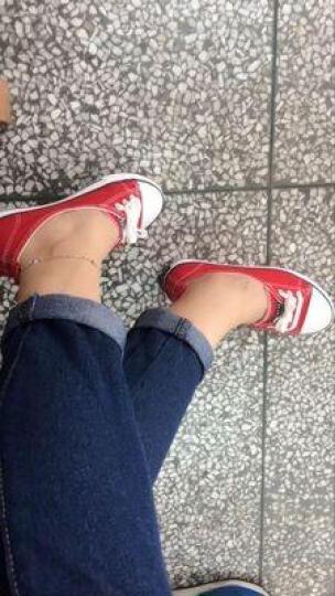 凡恋鸟 帆布鞋女春季2019新款时尚百搭韩版学生运动小白鞋布鞋女 红色 36 晒单图