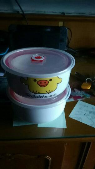 陶瓷保鲜碗保鲜盒套装骨瓷泡面碗微波炉饭盒密封带盖便当盒 K配送勺筷+粉色保温袋 晒单图