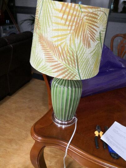 繁登堡(fandengbao)美式田园陶瓷台灯创意欧式卧室床头灯温馨客厅书房装饰灯 晒单图