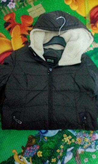 雪中飞羽绒衣服女中长款修身羊羔毛相拼连帽X1301116 127113(富贵棕) 170/92A 晒单图
