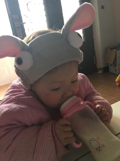 雅蝶娜 洗脸化妆头带面膜卡通兔耳朵束发带 运动瑜伽发箍美容巾 粉色 晒单图