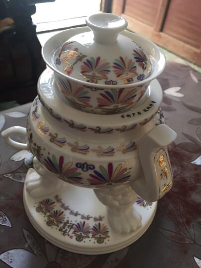 陶明堂 自动茶具功夫套装陶瓷家用白瓷创意手工懒人茶壶茶海泡茶器茶杯整套礼盒 鼎盛千秋-金 晒单图