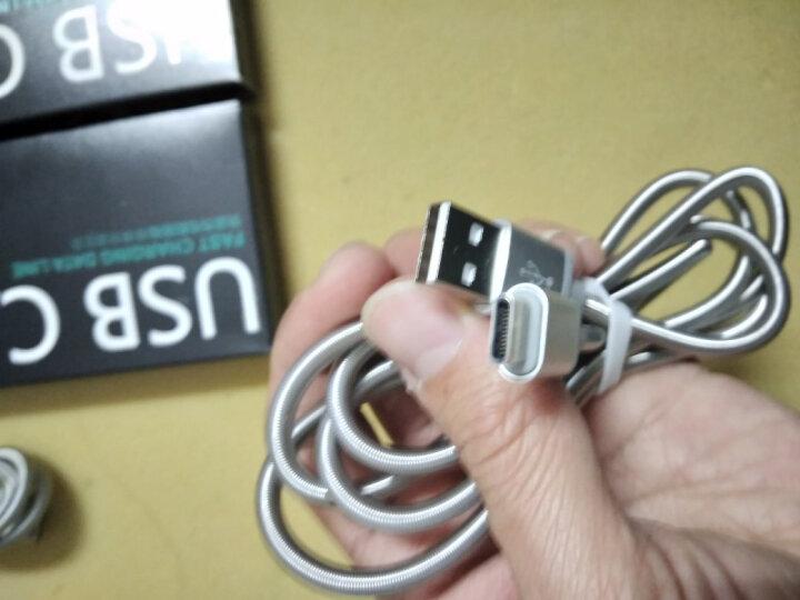 Capshi Type-C数据线 安卓手机充电器线 Q3金属弹簧线 1.2米银 支持华为P9/麦芒5/荣耀V8/乐视/小米5 晒单图