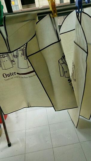 衣服防尘罩挂衣袋西装大衣物收纳袋子家用衣柜透明挂式西服套 韩版蓝色3中2大 晒单图