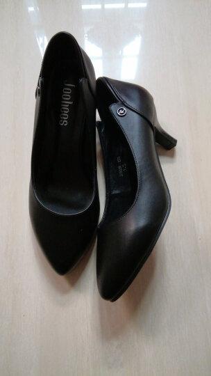 【名品精选 限量秒杀】JOOHEES品牌自营牛皮定制款单鞋细跟尖头高跟鞋300 黑色-定制款 36 晒单图