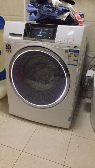博世(BOSCH) 10公斤智能变频 滚筒洗衣机 除菌 特渍洗 彩屏家居互联(白色)XQG100-WAU287600W 晒单图