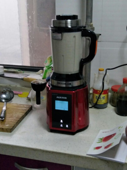 【变频双杯】奥克斯(AUX)破壁机变频静音 破壁料理机加热家用小型豆浆机榨汁机多功能预约搅拌机936 晒单图