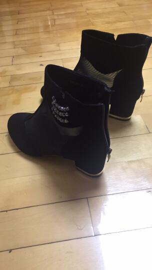 尚迪林 凉鞋女夏季中跟2019新款韩版舒适深口百搭女鞋粗跟高跟包头网纱女鞋子 黑色 38 晒单图