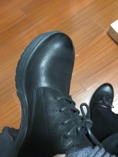 【门店直发】Senda/森达新款专柜同款英伦休闲女单鞋粗高跟3CU20CM7 黑色 35 晒单图