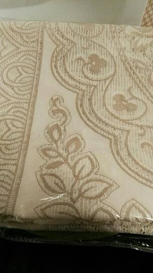 布蓝格 防水桌布欧式进口PVC免洗餐桌布时尚蕾丝茶几布餐桌垫长方形台布 1420浅咖 140*200cm 晒单图