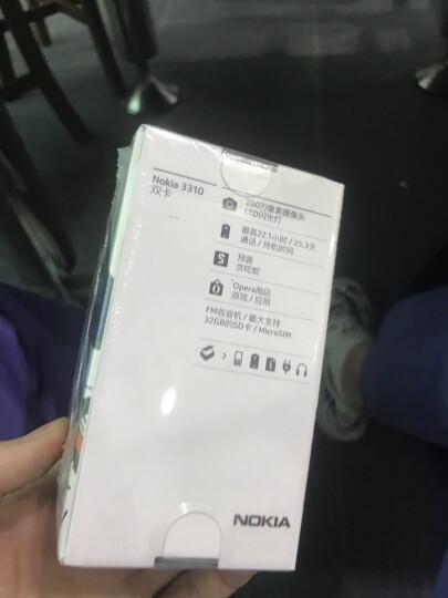 诺基亚(NOKIA)3310 灰色 直板按键 移动联通2G手机 双卡双待 时尚手机 经典复刻 学生备用功能机 晒单图