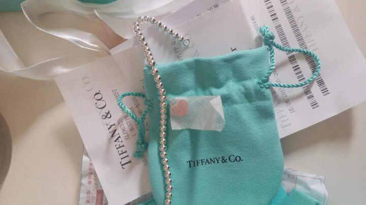 蒂芙尼蒂凡尼 Tiffany 银心形小珠手链 Tiffany蓝色和银色 粉色送礼生日礼物 天河石 6.5英寸 晒单图