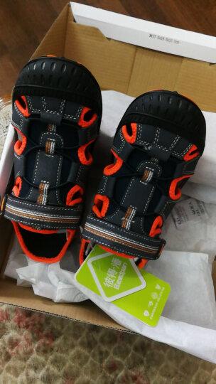 彼得·潘 Beedpan 儿童凉鞋夏季新款包头男童凉鞋P337灰绿36码 晒单图