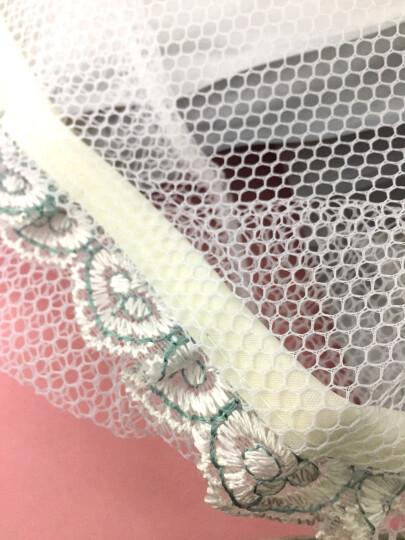 宜百利电风扇安全罩保护罩 防小孩儿童夹手宝宝防护罩 圆形落地风扇安全网罩全包型 墨绿布艺花边16寸 3101 晒单图