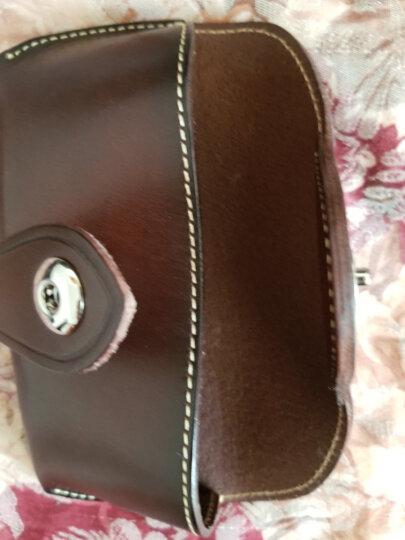 Geremen意大利进口皮 纯手工缝制 男女通用眼镜盒真皮  头层皮眼镜盒男YH02 咖啡色 晒单图