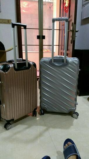 ?新款旅行箱拉链铝框拉杆箱20寸学生行李箱20寸箱子旅行箱万向轮密码箱登机箱 宝蓝色-拉链款 24寸丨托运箱 晒单图