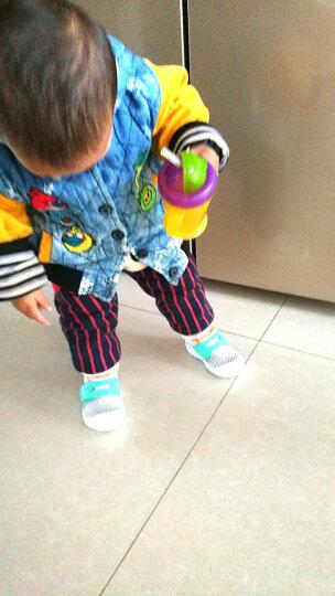 好孩子(gb)童鞋学步鞋男机能鞋宝宝鞋女童鞋软底婴儿鞋宝宝鞋子儿童运动鞋 灰绿色017 21码/适合脚长12.3cm左右/鞋内长130 晒单图