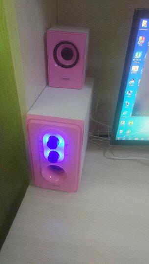 恩科(ENKOR)E50 笔记本电脑2.1组合音响低音炮 台式多媒体木质音箱 粉红色 晒单图