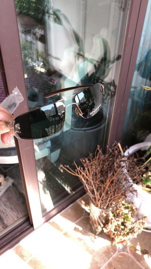 保时捷PORSCHE DESIGN男款合金镜架树脂镜片太阳镜眼镜男墨镜P8484 A金边墨绿色镜片 晒单图