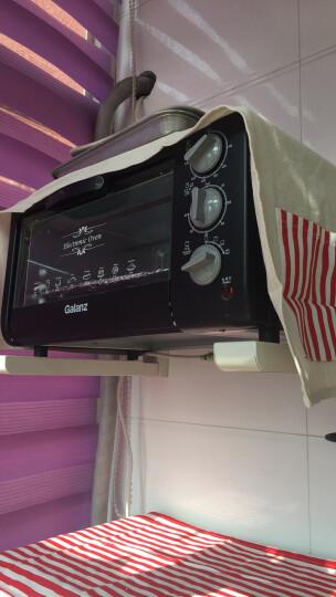 安美饰 微波炉防尘罩 烤箱防尘罩 多用微波炉烤炉盖布  涤棉布艺防尘套  WBL03 红色条纹 晒单图
